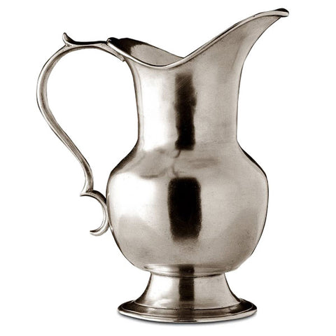 Siena Water Pitcher - 95 cl - Handcrafted in Italy - Pewter