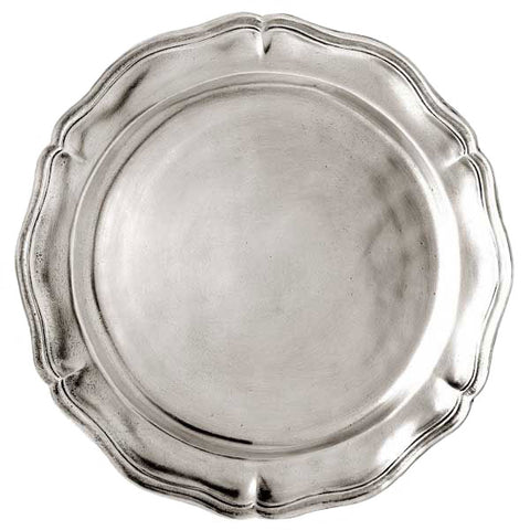 Siracusa Georgian-Style Edged Charger - 33 cm Diameter - Handcrafted in Italy - Pewter