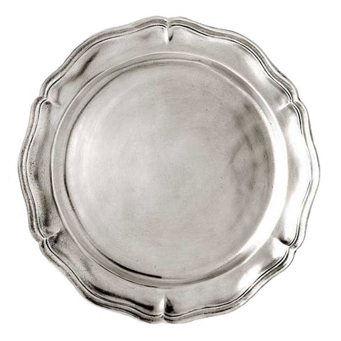 Siracusa Georgian-Style Edged Plate - 27 cm Diameter - Handcrafted in Italy - Pewter