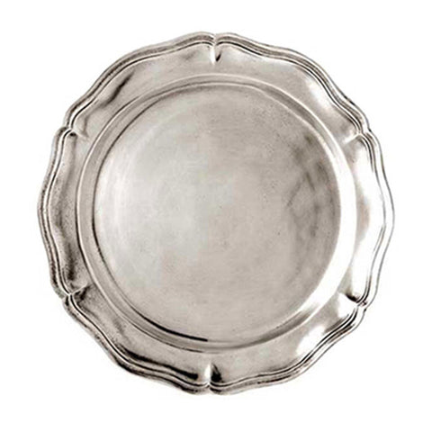 Siracusa Georgian-Style Edged Plate (Set of 2) - 20 cm Diameter - Handcrafted in Italy - Pewter