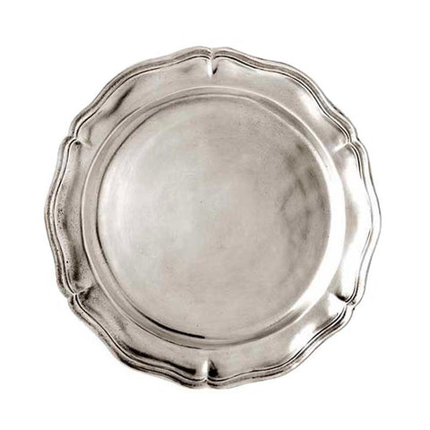 Siracusa Georgian-Style Edged Plate (Set of 2) - 17 cm Diameter - Handcrafted in Italy - Pewter