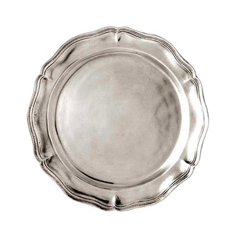 Siracusa Georgian-Style Edged Plate (Set of 2) - 14.5 cm Diameter - Handcrafted in Italy - Pewter
