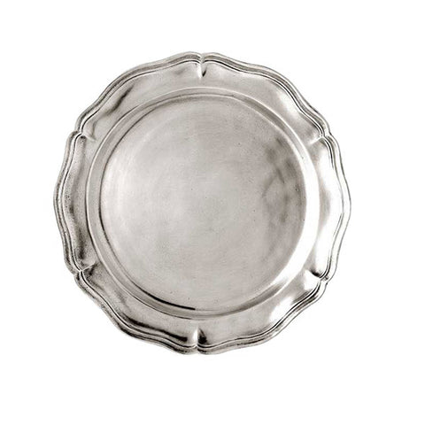 Siracusa Georgian-Style Edged Plate (Set of 2) - 12 cm Diameter - Handcrafted in Italy - Pewter