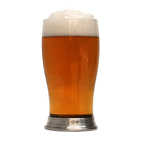 Sirmione Classic 'Pint' Beer Glass - 50 cl - Handcrafted in Italy - Pewter & Glass