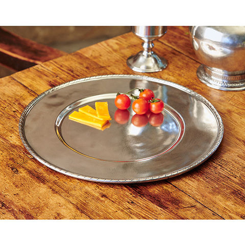 San Marco Charger - 32 cm Diameter - Handcrafted in Italy - Pewter