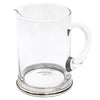 Sirmione Bar Pitcher - 1 L - Handcrafted in Italy - Pewter & Crystal Glass