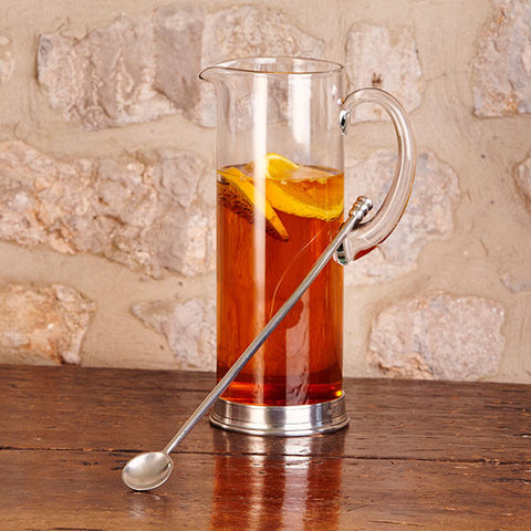 Sirmione Cocktail Stirrer - 34.5 cm Length - Handcrafted in Italy - Pewter