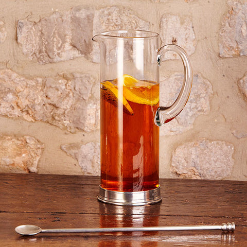 Sirmione Cocktail Pitcher - 1.5 L - Handcrafted in Italy - Pewter & Crystal Glass