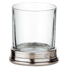 Sirmione Shot Glass (Set of 2) - 7 cl - Handcrafted in Italy - Pewter & Crystal Glass