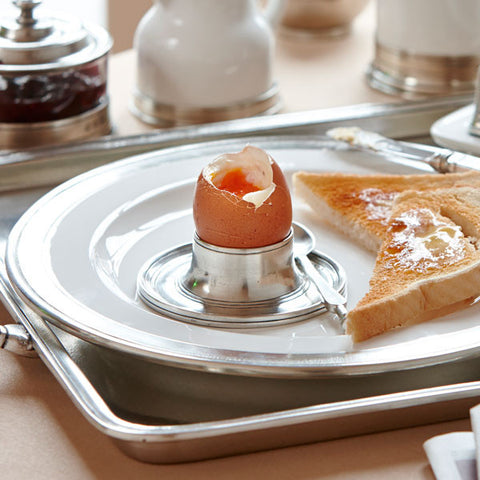 Stromboli Egg Cup - 9.5 cm Diameter - Handcrafted in Italy - Pewter