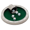 Tacito Dice Board Set - 24 cm Diameter - Handcrafted in Italy - Pewter & Felt