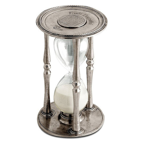 Talete Hourglass - 19 cm Height - Handcrafted in Italy - Pewter