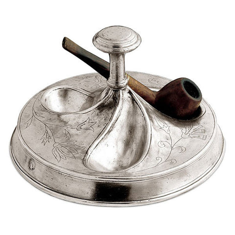 Tobago Pipe Holder - 20 cm - Handcrafted in Italy - Pewter