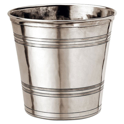 Todi Waste Basket - 23 cm Height - Handcrafted in Italy - Pewter