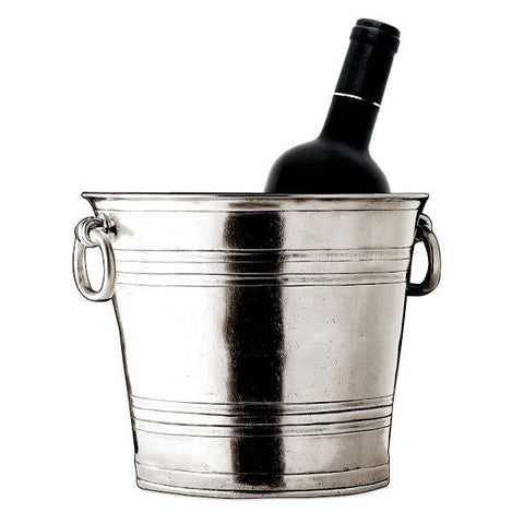 Todi Champagne Bucket - 21 cm Diameter - Handcrafted in Italy - Pewter