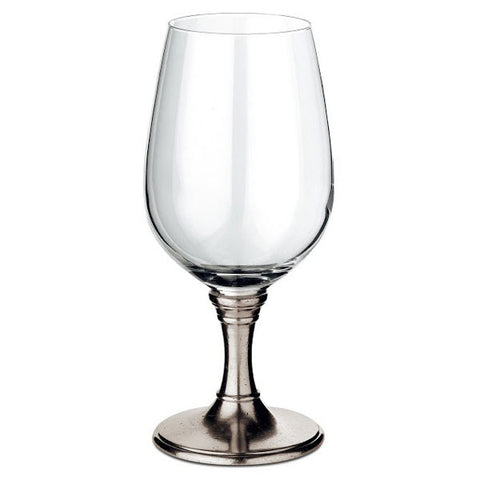 Tosca Beer Glass - 55 cl - Handcrafted in Italy - Pewter & Crystal