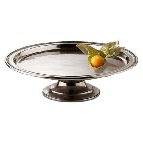 Toscana Cake or Cheese Stand - 28 cm Diameter - Handcrafted in Italy - Pewter