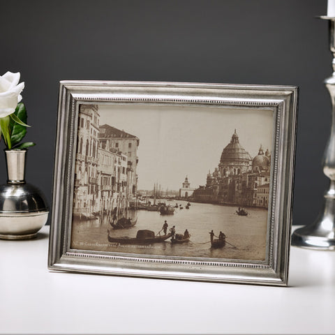 Toscana Rectangular Frame - 20 cm x 26 cm - Handcrafted in Italy - Pewter
