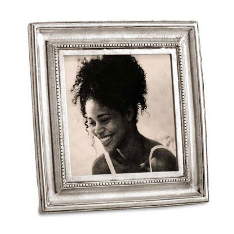Toscana Square Frame - 17.5 cm x 17.5 cm - Handcrafted in Italy - Pewter
