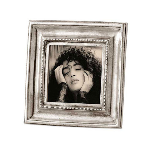 Toscana Square Frame - 10.5 cm x 10.5 cm - Handcrafted in Italy - Pewter