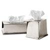 Toscana Tissue Box Cover - 26 cm x 14 cm x 9 cm - Handcrafted in Italy - Pewter