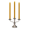Tarquinio 3 Flame Candelabra - 21 cm Height - Handcrafted in Italy - Pewter