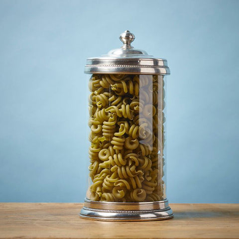Toscana Storage Canister - 1.5 L - Handcrafted in Italy - Pewter & Glass