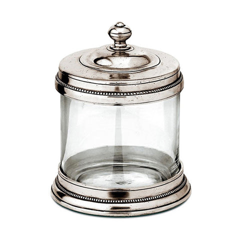 Toscana Storage Canister - 0.75 L - Handcrafted in Italy - Pewter & Glass