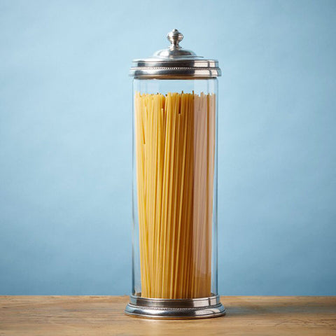 Toscana Storage Canister - 2 L - Handcrafted in Italy - Pewter & Glass