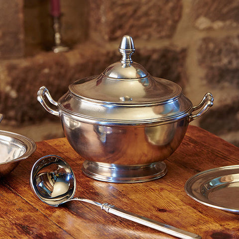 Tropea Tureen - 2.8 L - Handcrafted in Italy - Pewter