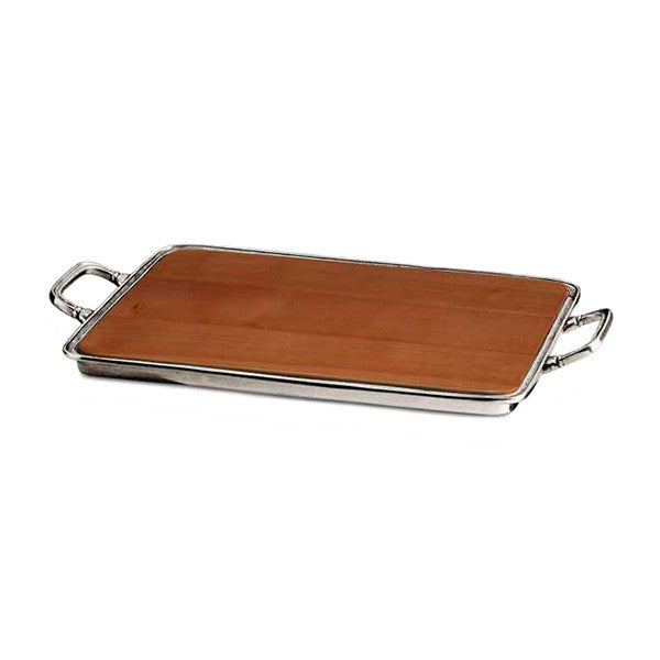 Umbria Cheese Tray With Handles 38 Cm X 31 Cm Handcrafted In Italy