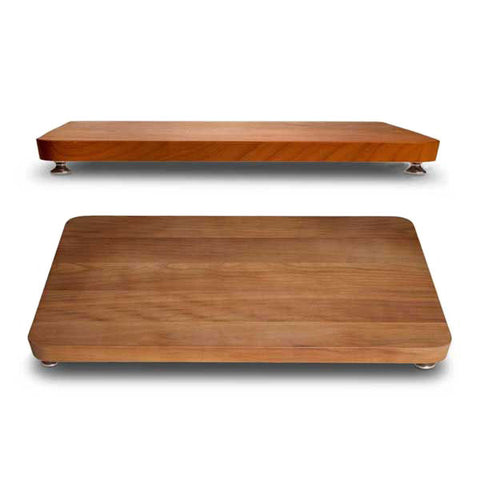 Umbria Footed Cutting Board - 42 cm x 33 cm - Handcrafted in Italy - Pewter & Cherry Wood