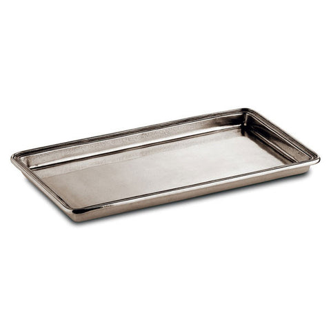 Umbria Guest Towel Tray - 25 cm x 13.5 cm - Handcrafted in Italy - Pewter
