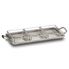 Umbria Crudités Tray (with handles) - 29 cm x 13.5 cm - Handcrafted in Italy - Pewter & Glass