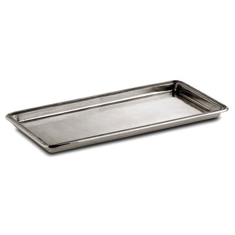 Umbria Rectangular Tray - 29 cm x 13.5 cm - Handcrafted in Italy - Pewter