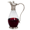 Velletri Decanter (with handle) - 1 L -  Handcrafted in Italy - Pewter & Glass