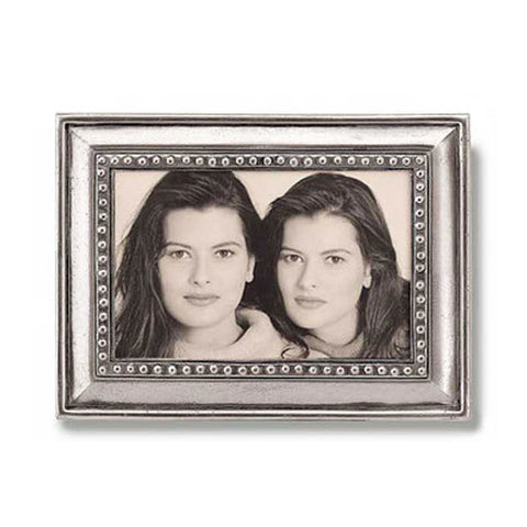 Veneto Rectangular Frame - 14.5 cm x 19.5 cm - Handcrafted in Italy - Pewter