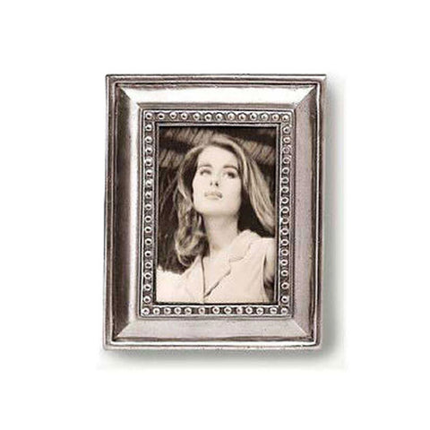 Veneto Rectangular Frame - 11 cm x 14 cm - Handcrafted in Italy - Pewter