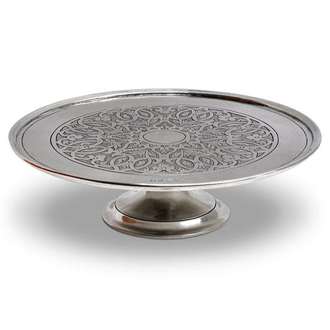 Venezia Cake/Cheese Stand - 30 cm Diameter - Handcrafted in Italy - Pewter