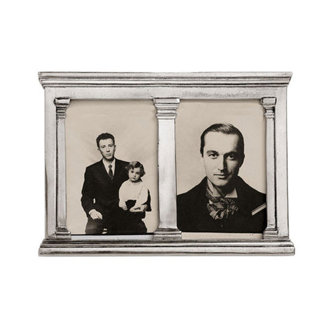Verona Double Frame - 26 cm x 19 cm - Handcrafted in Italy - Pewter