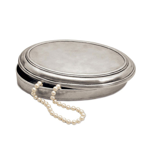 Vittoria Lidded Box - 16.5 cm x 10.5 cm - Handcrafted in Italy - Pewter