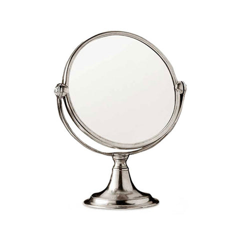 Vanita Vanity Mirror - 31 cm Height - Handcrafted in Italy - Pewter & Glass