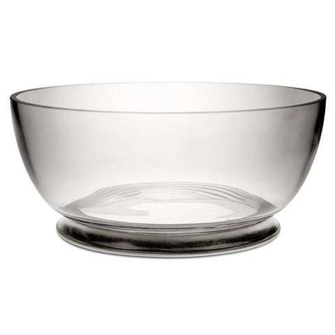 Velletri Bowl - 30 cm Diameter - Handcrafted in Italy - Pewter & Crystal Glass