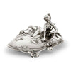 Art Nouveau-Style Donna Jewellery Tray - 11 cm Height - Handcrafted in Italy - Pewter/Britannia Metal