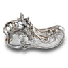 Art Nouveau-Style Donna Jewellery Tray - 34 cm x 22 cm - Handcrafted in Italy - Pewter/Britannia Metal