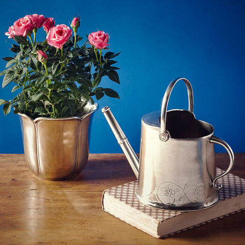 Zefiro Watering Can - 90 cl - Handcrafted in Italy - Pewter
