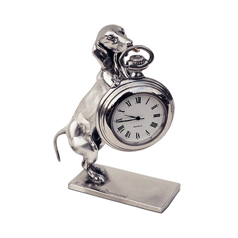 Art Nouveau-Style Cane Pocket Watch Stand - 10 cm - Handcrafted in Italy - Britannia Metal/Pewter