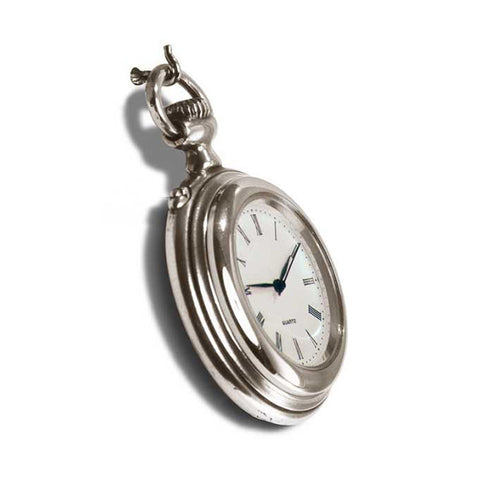 Art Nouveau-Style Cipolla Pocket Watch - 4.5 cm - Handcrafted in Italy - Britannia Metal/Pewter