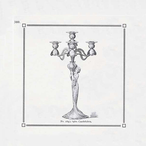 Art Nouveau-Style Donna Candlestick - Maiden (right) - 30.5 cm Height - Handcrafted in Italy - Pewter/Britannia Metal