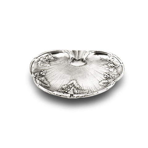 Art Nouveau-style Vino Ashtray - 13 cm - Handcrafted in Italy - Pewter/Britannia Metal